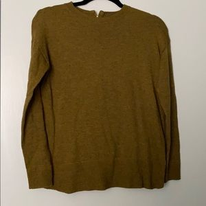 Olive green zipper detail long sleeve sweater!